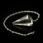 Quartz crystal faceted pendulum