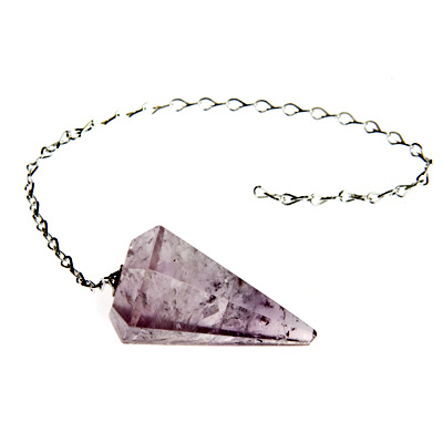 Amethyst crystal faceted pendulum dowser the crystal healer amethyst crystal faceted pendulum dowser aloadofball