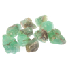 Green calcite, Calcite green crystals large