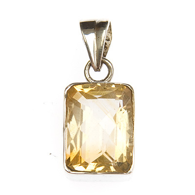 Citrine crystal pendant rectangle the crystal healer citrine crystal pendant rectangle aloadofball Choice Image