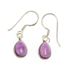 Amethyst earrings - tear drop