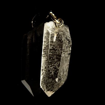 pendulum plated natural raw crystal spike pendant pendantnatural brass gold dreidel