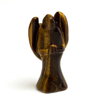Tiger's eye angel carving