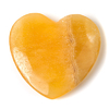 Orange calcite crystal heart