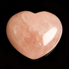 Rose quartz crystal heart - rose quartz puff heart