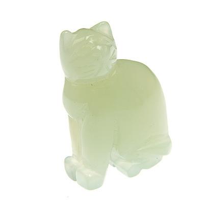 Jade Cat Carving 01 The Crystal Healer
