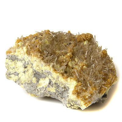 Sulphur crystal with celestite - natural (04) sulfur