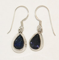 Iolite earrings - iolite crystal earrings