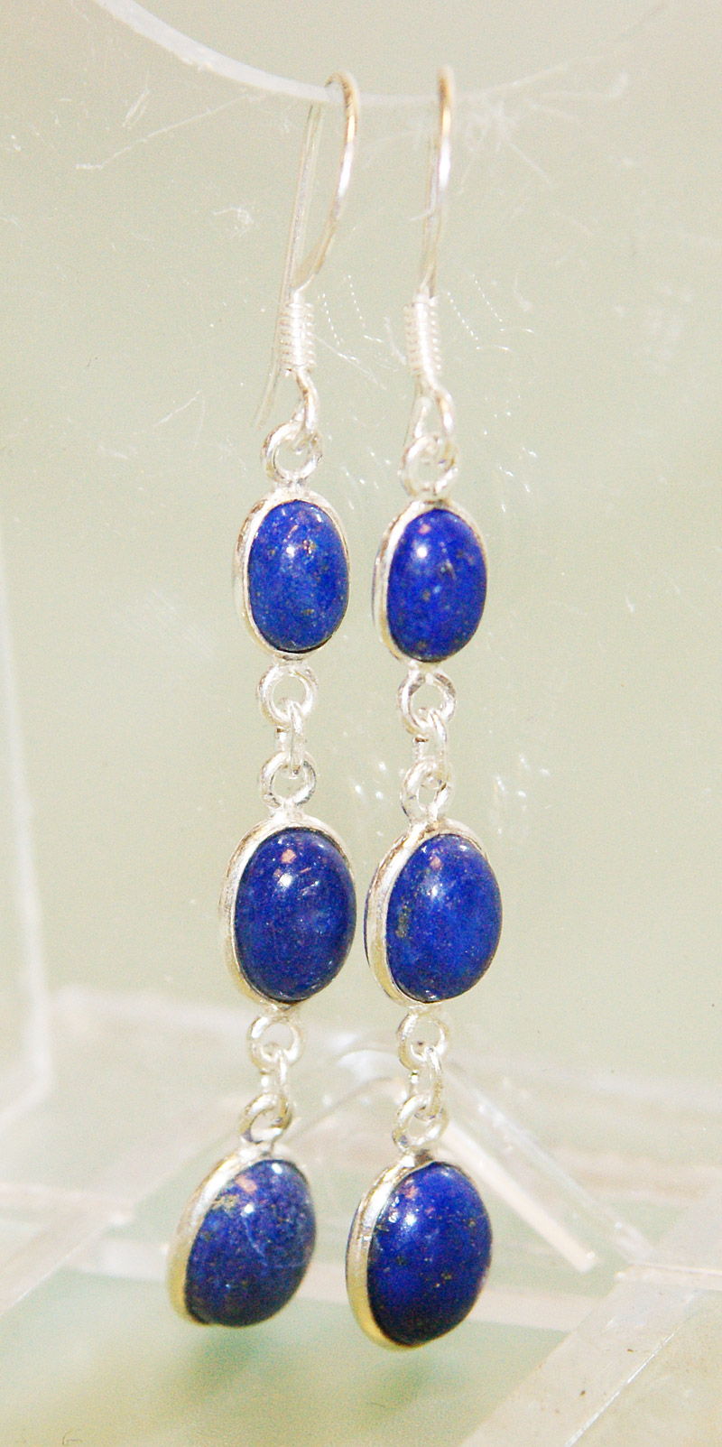 item with lazuli queen shop needlework isitnofret square istnofret bead blue lapis egyptian earrings