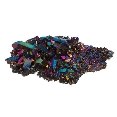Titanium quartz crystal - Large Flame aura quartz crystals 23