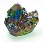 Titanium quartz crystal - Flame aura quartz crystals 30