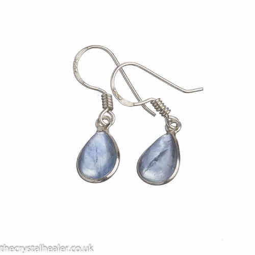 Apatite Crystal Earrings 02 Blue Tear Drop